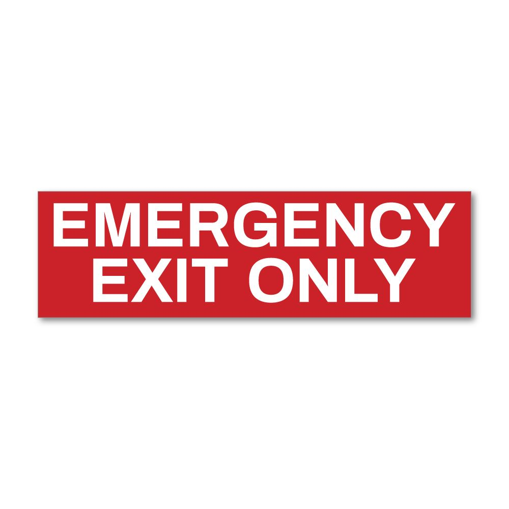 Emergency Exit Only Sticker Decal