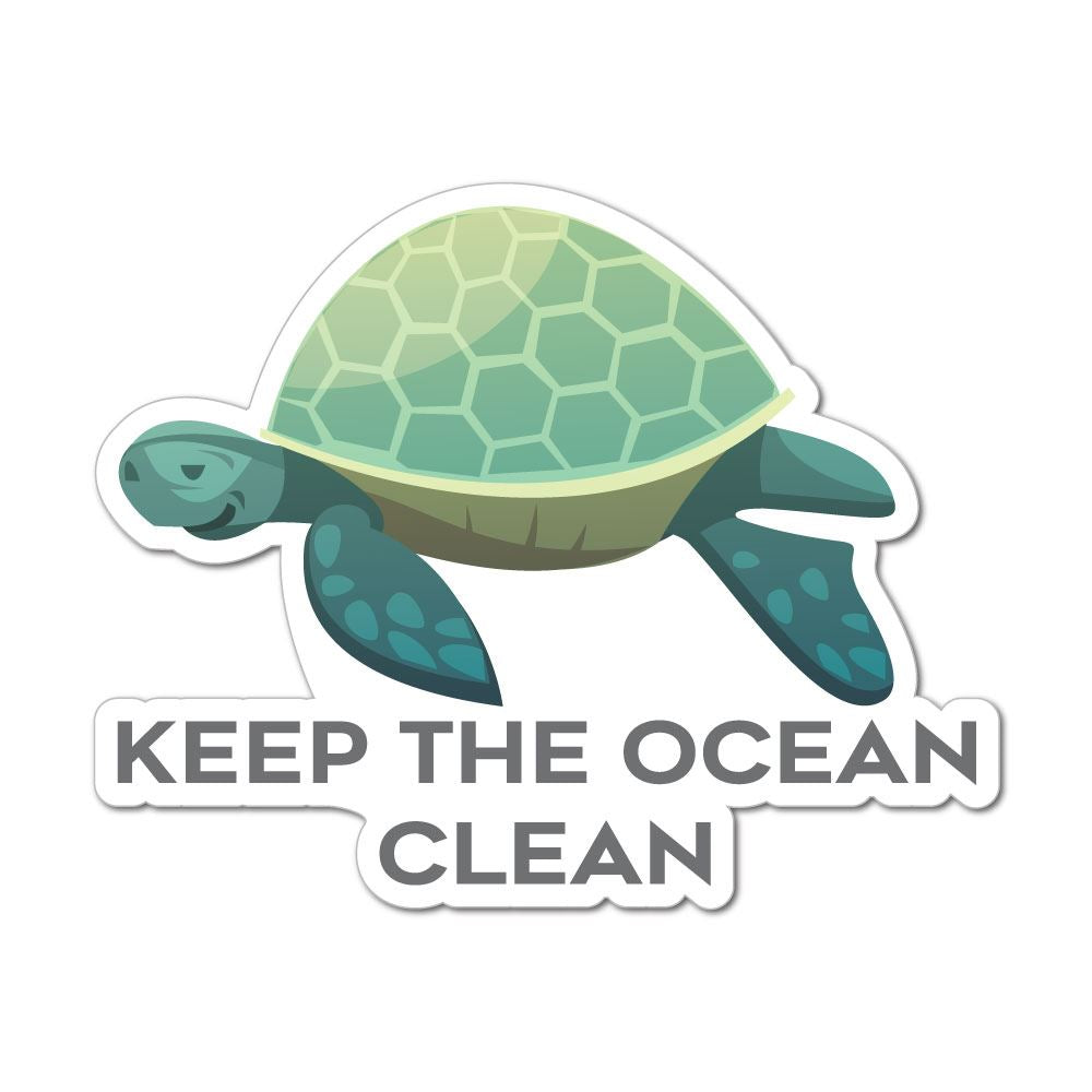 Keep The Ocean Clean Sticker Decal