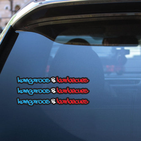 Kangaroos And Barbecues Sticker Decal