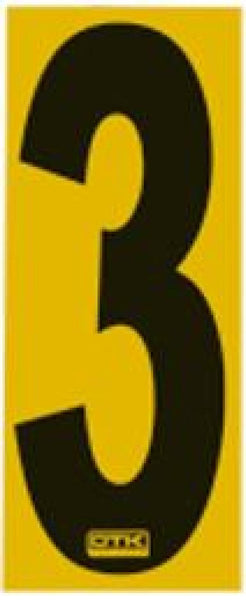 Race Number Sticker 3
