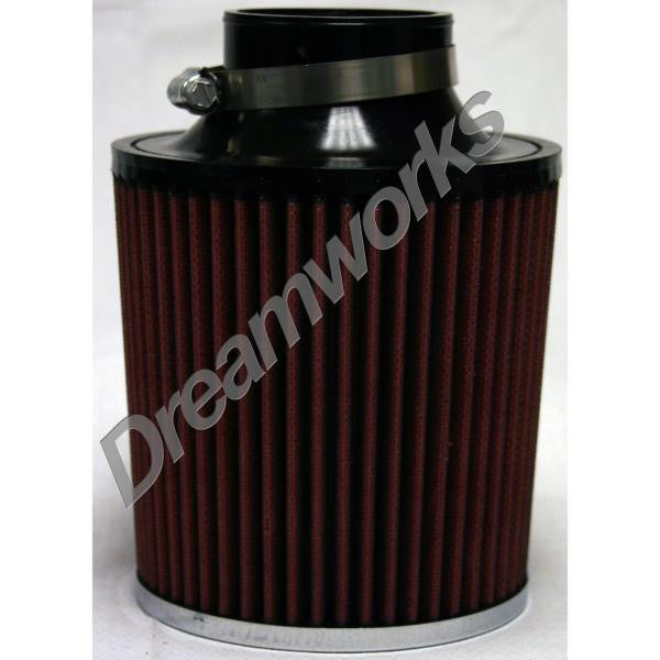 Power Stack Air Filters W/Absolute Air Flow Design 5 1/4' Dia. x 6' Tall x 2 1/2' Inner Dia. & Chrome End