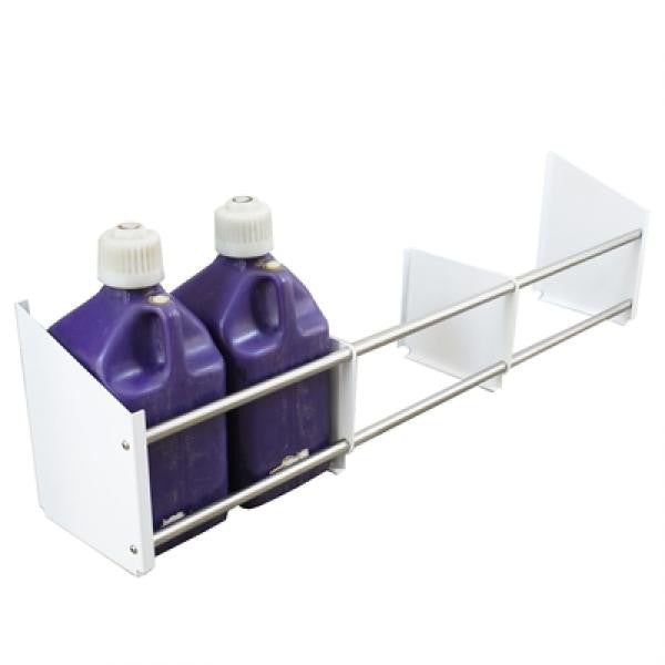 HRP Six Fuel Jug Rack - Powder Coated White