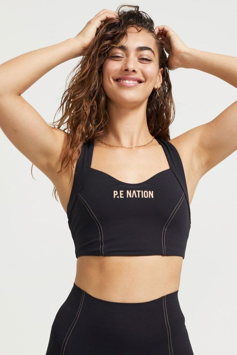P.E NATION | Elevation Sports Bra - Black