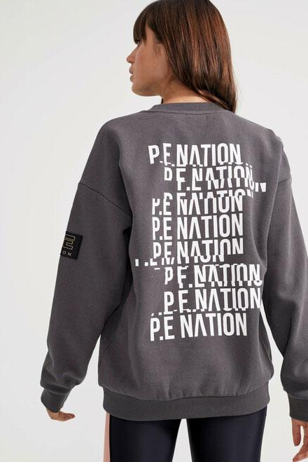 P.E NATION | Goal Line Sweatshirt - Charcoal