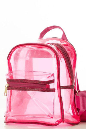 Think Pink Transparent Backpack