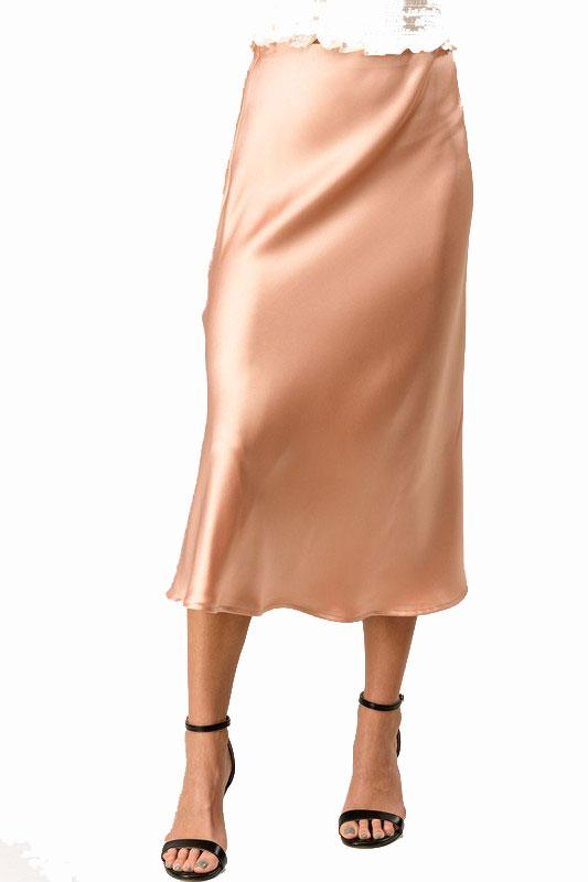 Just Peachy Midi Skirt