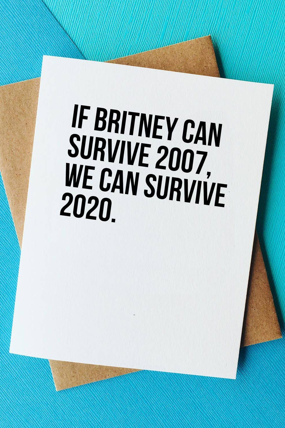 Britney vs 2020 Card