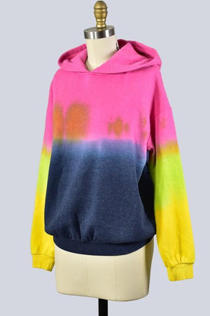 Hood Be Love Tie Dye - Pink Multi
