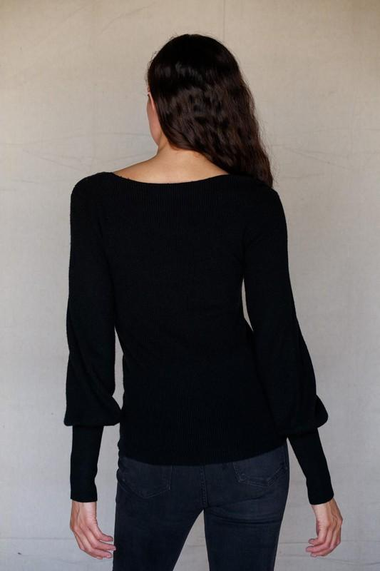 Don't be a Square Neck Sweater - Black