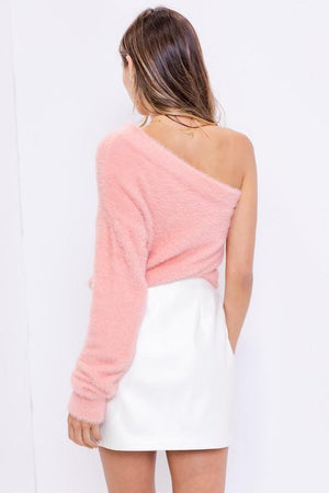 A Pretty in Pink One Shoulder