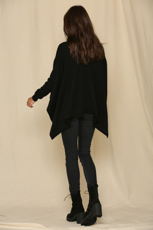 Not your Poncho Style Top - Black
