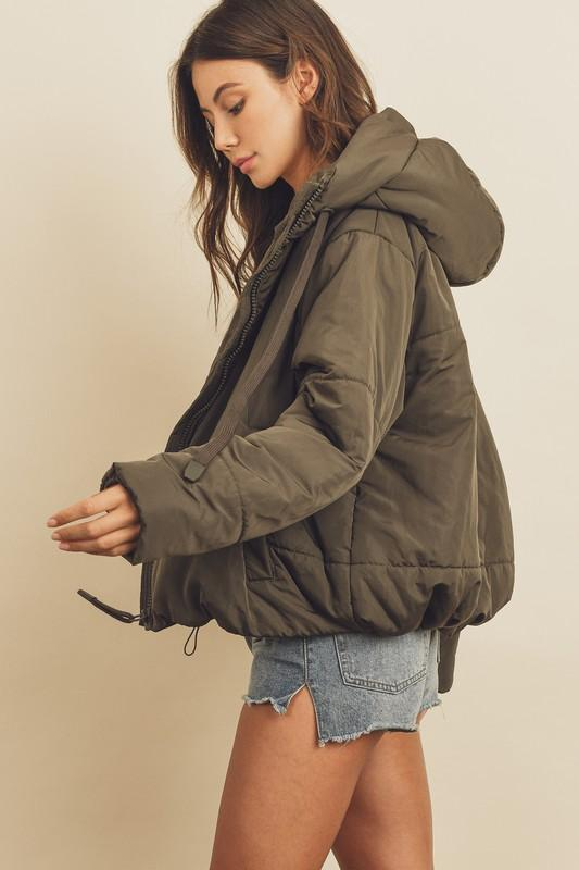 Olive Cold Weather Puffer