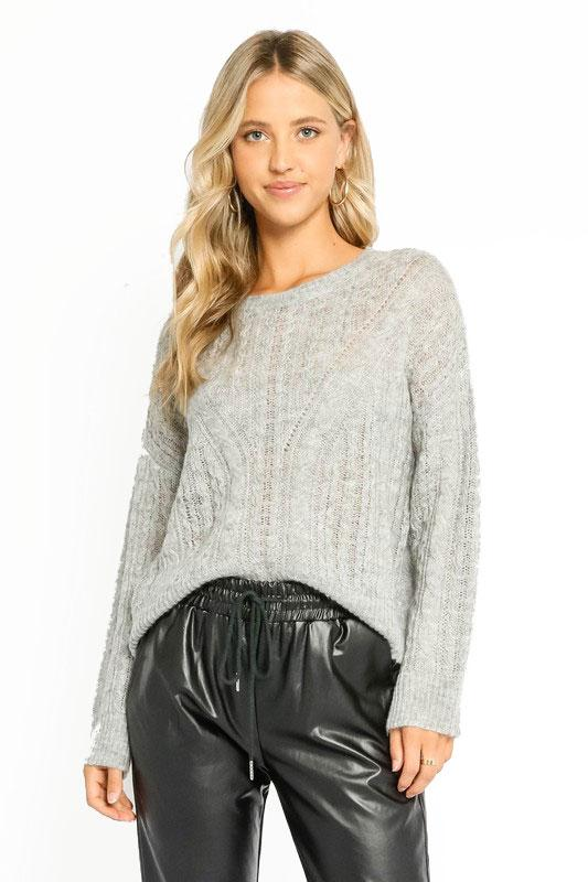 Heather Knit Gray Sweater
