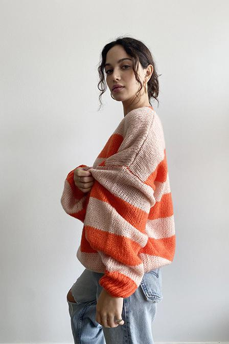 All for Coral Sweater