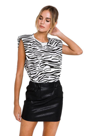 Shoulder Fad Tank - Zebra