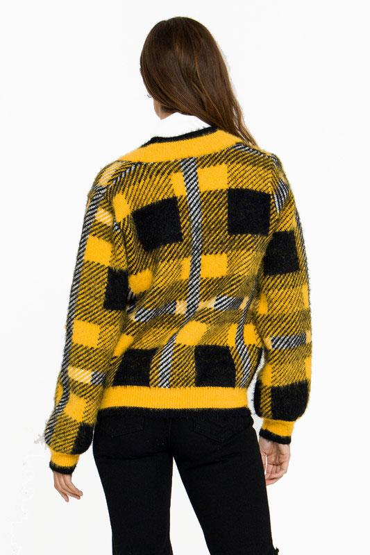 Check Me Out Cardigan - Yellow Multi