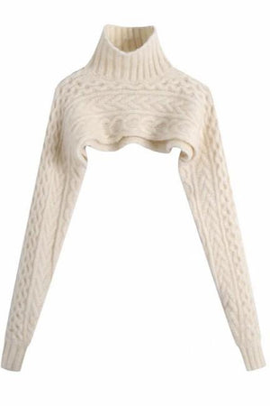 On the Crop Cable Knit - Ivory
