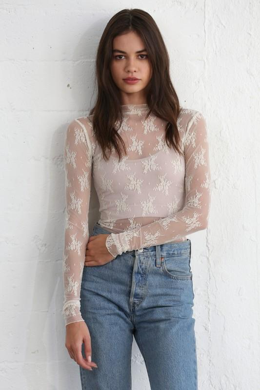 Lace of Spades Top - Ivory