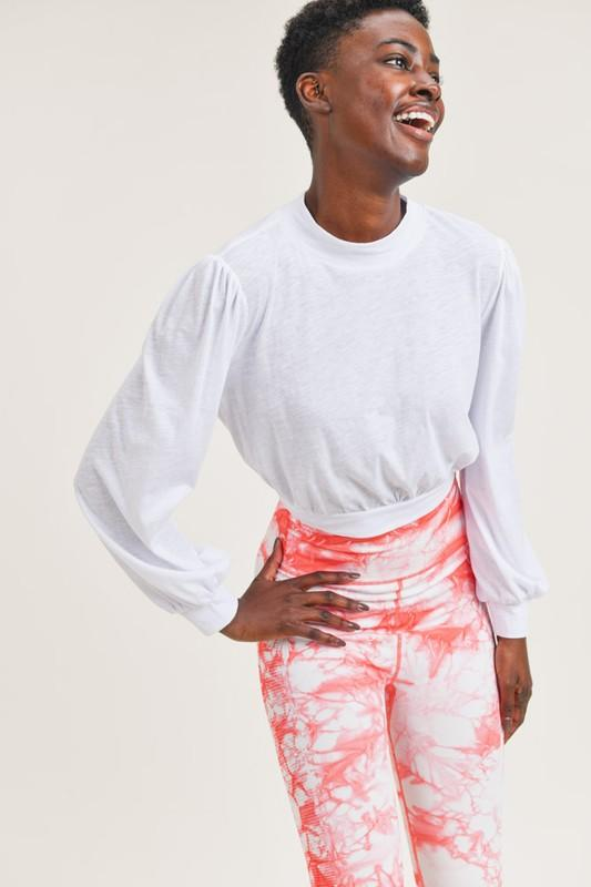 Leave it Be Sleeve Top - White