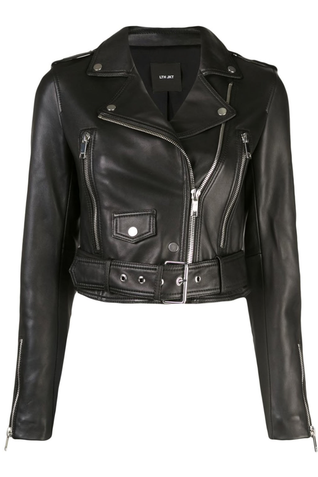 LTH JKT | Mya Cropped Biker Jacket - Black