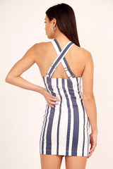 Sailor Stripe Dress - Blue/White