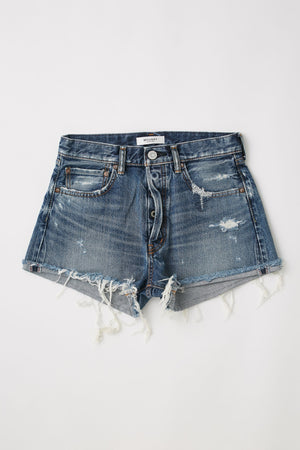 MOUSSY | Bessie Blue Denim Shorts