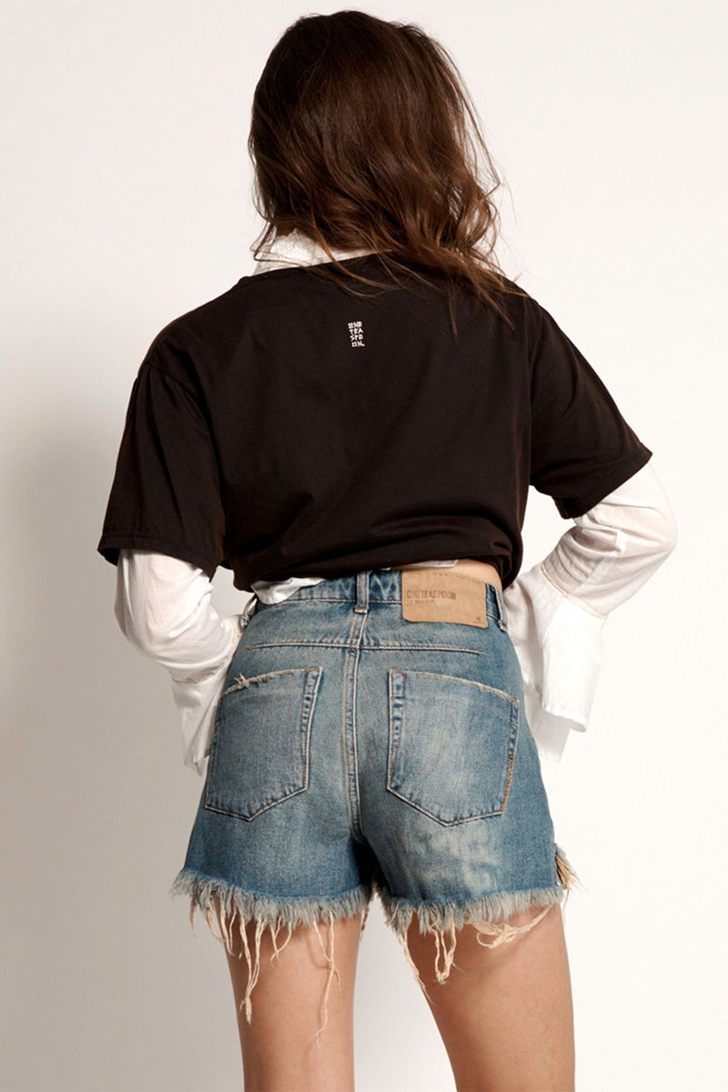 ONE TEASPOON | Le Wolves Colorado Denim Shorts