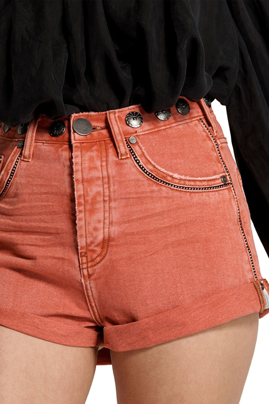 ONE TEASPOON | Coral Studded Bandit Shorts