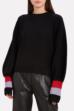 A.L.C | Lansing Colorblock Sweater - Black/Red/Wisteria