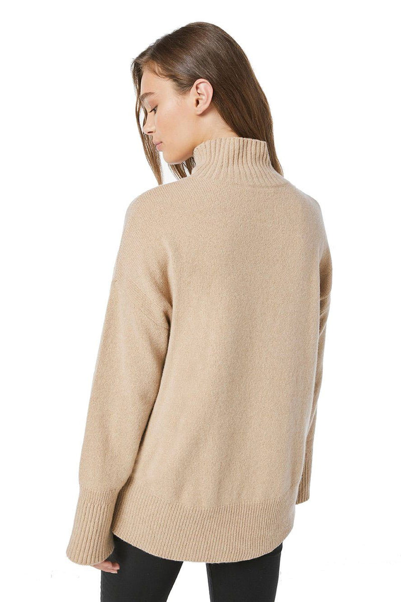 FRAME | High Low Turtle Neck - Camel
