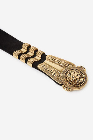 THE KOOPLES | Lion Buckle Leather Belt