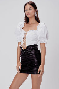 FOR LOVE & LEMONS | Afton Pleather Mini Skirt