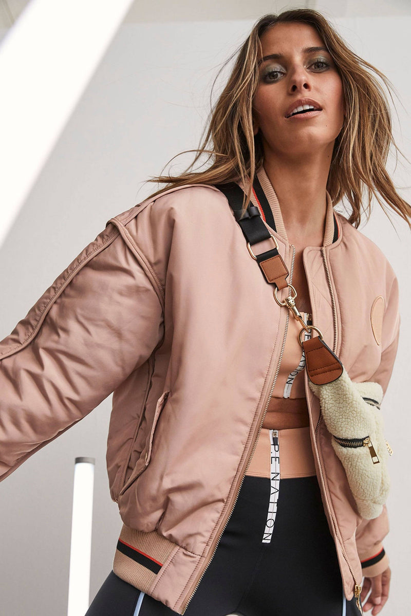 P.E NATION | Service Break Jacket - Nude Bomber