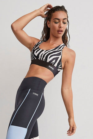 P.E NATION | Rematch Sports Bra - Zebra