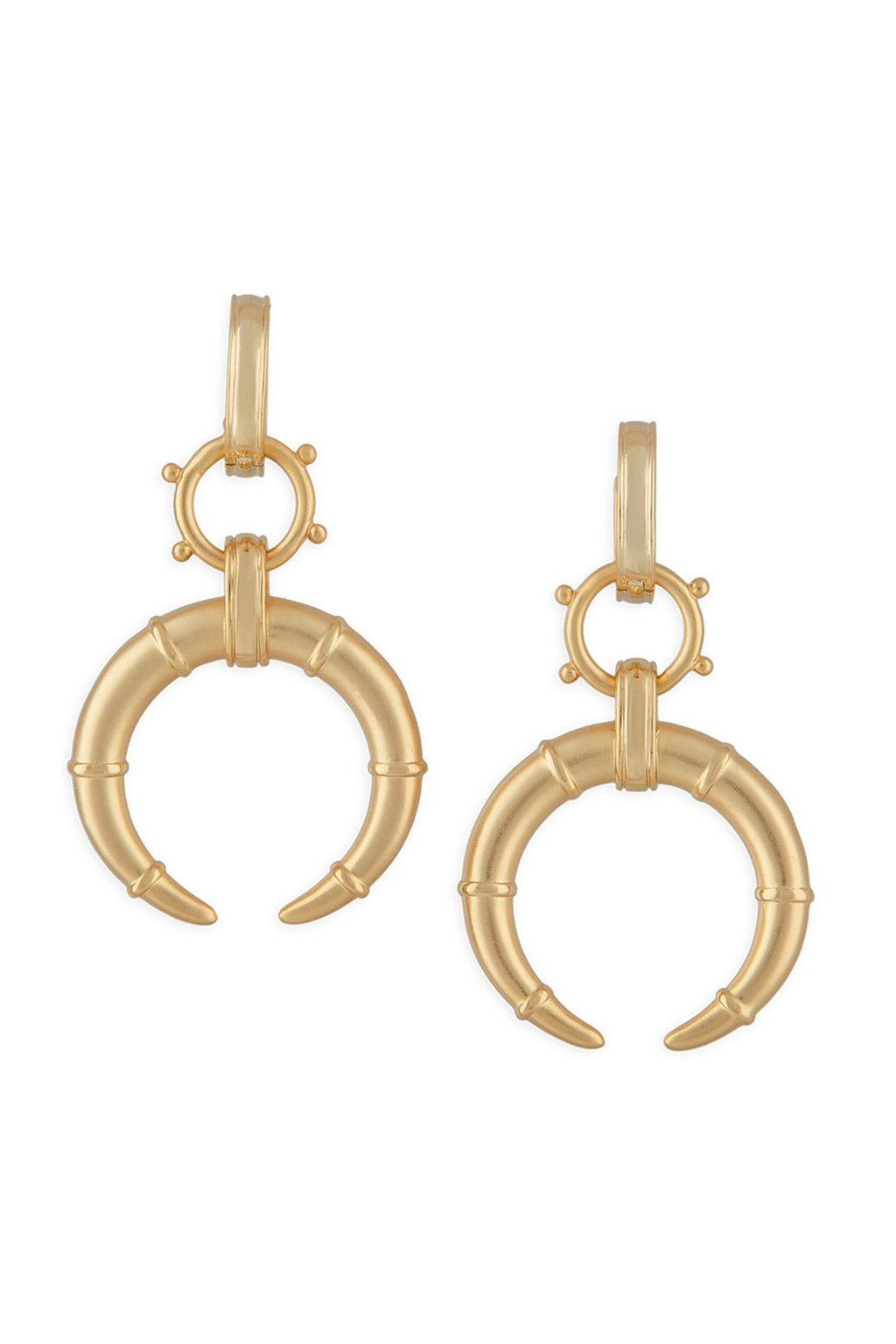 ASHLEY CHILDERS | Horn Earrings - Gold