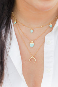ASHLEY CHILDERS | Horn Necklace - Gold