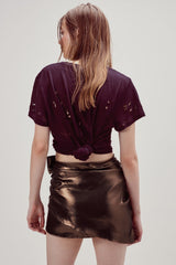 FOR LOVE & LEMONS | Blackjack Mini Skirt - Copper