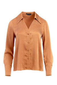 ALICE + OLIVIA | Hope Button Down - Camel
