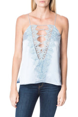 CAMI NYC | Charlie Charmeuse Tank - Powder Blue