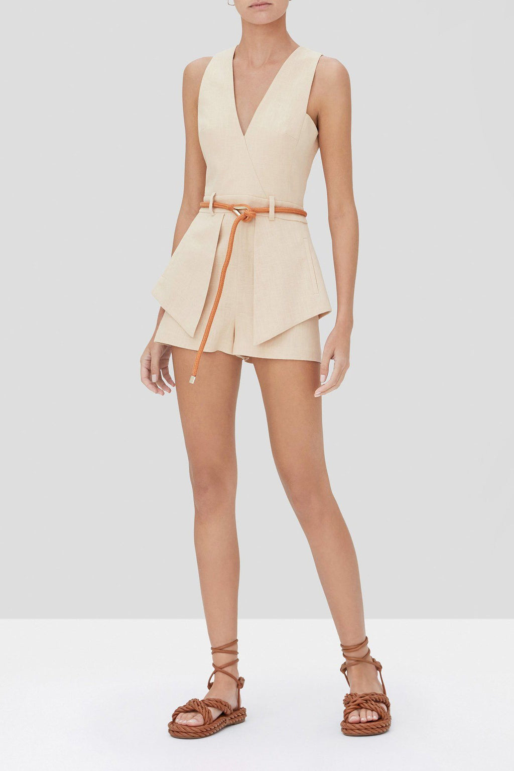 ALEXIS | Darby Romper - Fawn