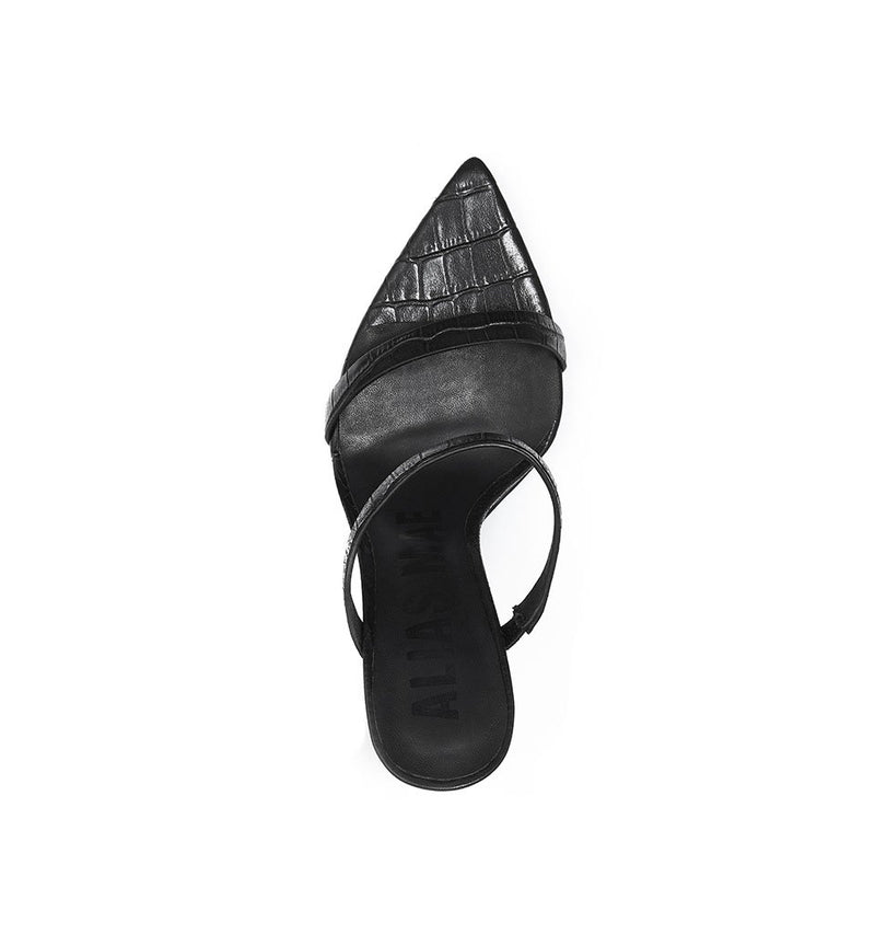 ALIAS MAE | Duke Heel - Black Croc