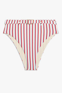 WE WORE WHAT | Emily Bottoms - Cream Stripe