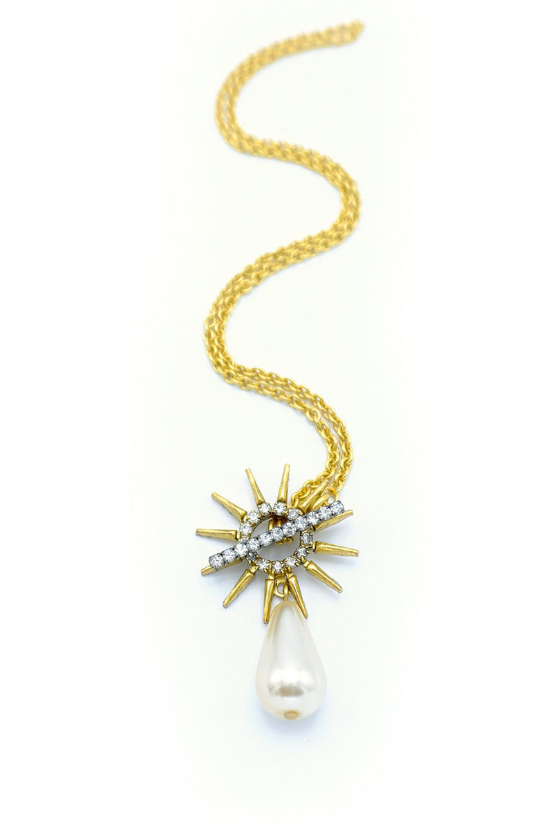 ELIZABETH COLE | Ronelle Pearl Drop Necklace
