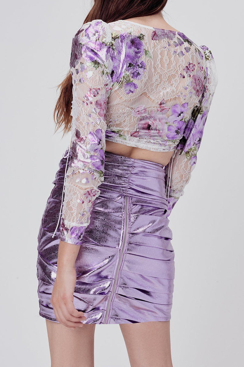FOR LOVE & LEMONS | Wildflower Lavender Tie Top