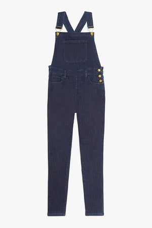 WE WORE WHAT | High-Rise Skinny Overall - Indigo
