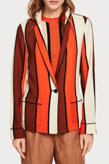 SCOTCH & SODA | Striped Drapey Pajama Blazer