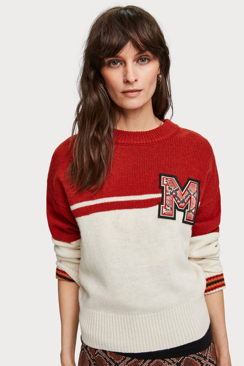SCOTCH & SODA | Varsity Color Block Sweater - M