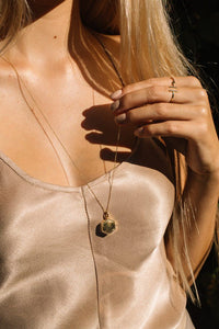 JURATE BROWN | Louise Locket Gold Necklace