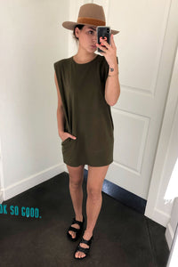 Its a Shoulder Fad Dress - Olive