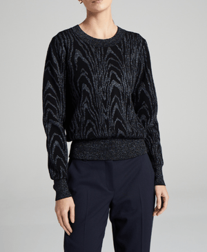 A.L.C. | Jesper Sweater - Black/ Steele Animalier